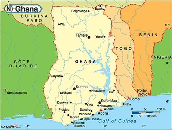 Bright Star Vision About Ghana - Where is ghana located